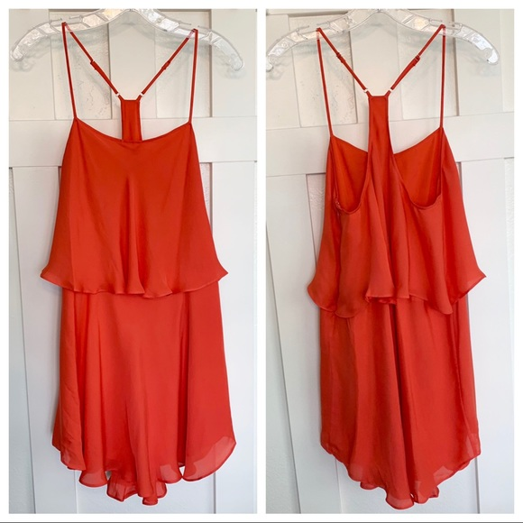 Haute Hippie Dresses & Skirts - Haute Hippie Coral Pink Silk Sleeveless Mini Dress